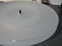 ACRYLIC PLATTER UPGRADE for Turntable Rega Planar 2,3,25 P3, P3/24, RP1, RP3 :: milky-white S24