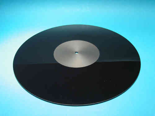 ACRYLIC TURNTABLE MAT black-polished with label recess