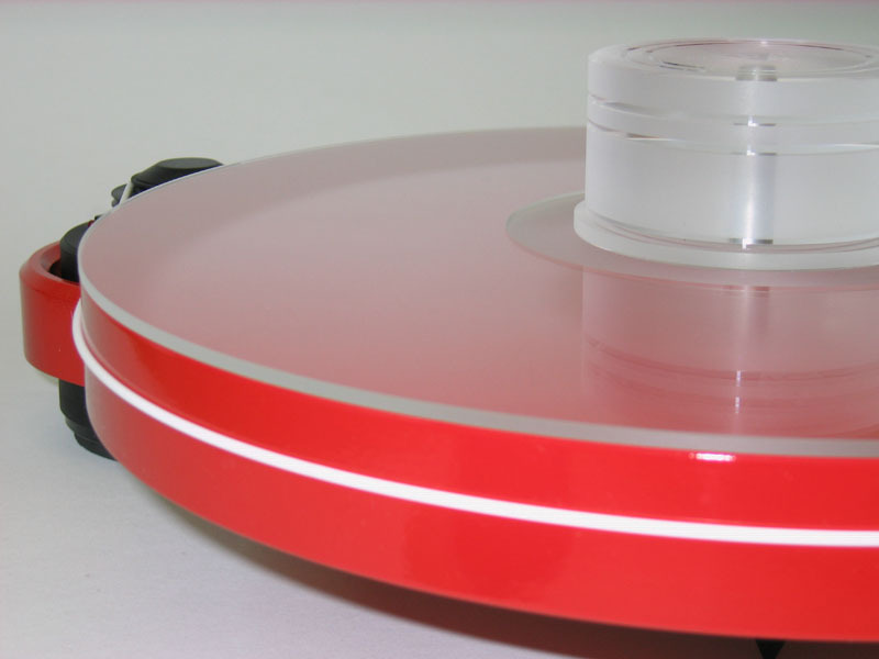Delta Device Acrylic Turntable Mat Clear With Label Recess