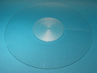 ACRYLIC TURNTABLE MAT clear with label recess