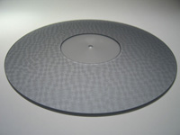 ACRYLIC TURNTABLE MAT TEXTURED grey with label recess