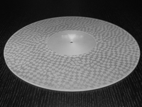 ACRYLIC TURNTABLE MAT TEXTURED clear with label recess
