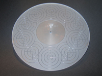 ACRYLIC TURNTABLE MAT clear-grinded with label recess and surface-finish