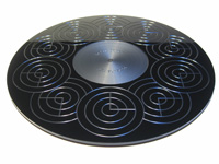 ACRYLIC TURNTABLE MAT black high-gloss with label recess and surface-finish