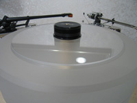 Turntable Platter COVER DISC of PLEXIGLAS® clear