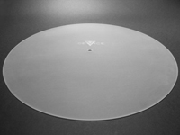 Turntable Platter COVER DISC of PLEXIGLAS® clear-grinded