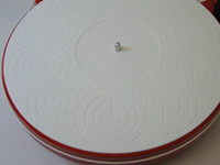 ACRYLIC TURNTABLE MAT white-grinded with label recess and surface-finish