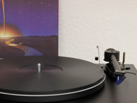 Vinyl UPGRADE-PLATTER for Pro-Ject ESSENTIAL black