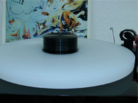 ACRYLIC PLATTER for turntable Pro-Ject Debut Line + Juke Box :: white