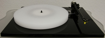 ACRYLIC PLATTER UPGRADE for Rega RP6 and Planar 6 (2017) turntable :: white