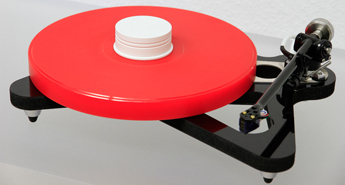 ACRYLIC PLATTER UPGRADE for Rega RP8 turntable :: red