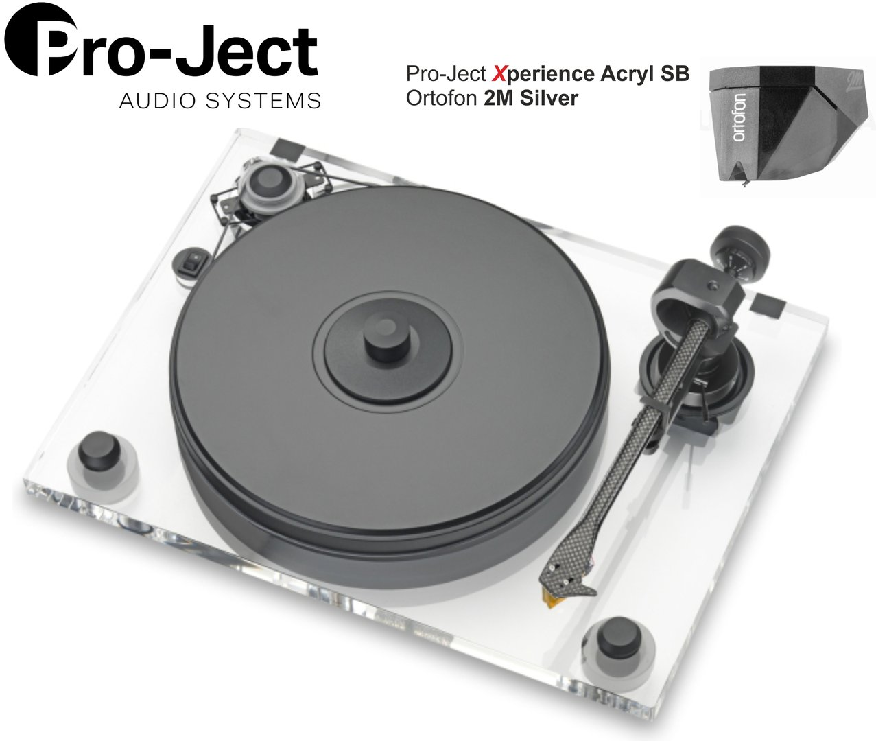 Pro-Ject Xperience ACRYL SB Turntable with Ortofon 2M Silver