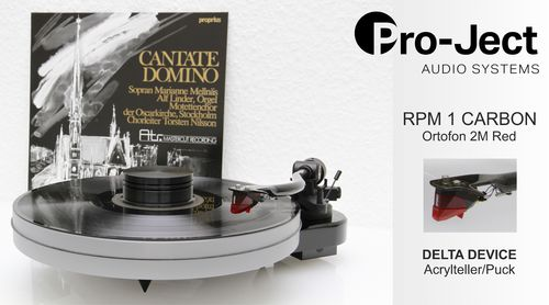 PRO-JECT RPM 1 CARBON + Ortofon 2M Red + DELTA DEVICE UPGRADE | chassis: schwarz