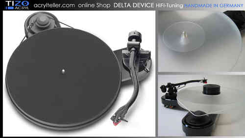 PRO-JECT RPM 1 CARBON Plattenspieler + DELTA DEVICE UPGRADE | chassis: schwarz