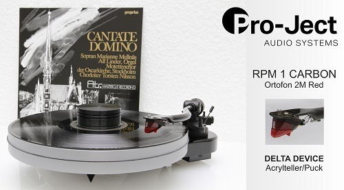 PRO-JECT RPM 1 CARBON turntable + DELTA DEVICE UPGRADE | chassis: white