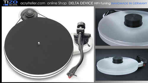 PRO-JECT RPM 1 CARBON Plattenspieler + DELTA DEVICE UPGRADE | chassis: weiß