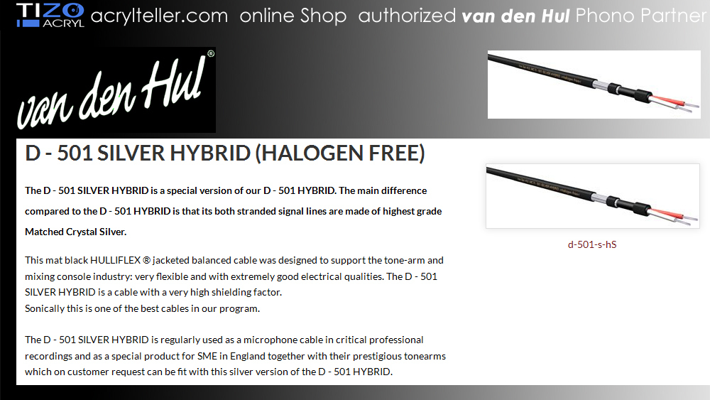 Vdh D 501 Silver Hybrid Halogen Free Authorized Phono