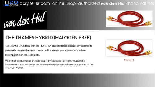 van den Hul | The THAMES HYBRID (Halogen Free) Set RCA | Phono Kabel