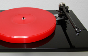 ACRYLIC PLATTER UPGRADE for Rega RP6 turntable :: 27mm red