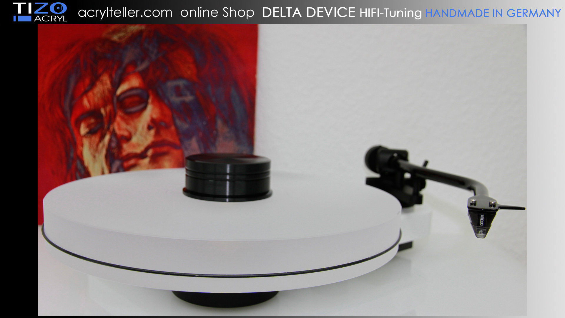 PRO-JECT RPM 3 CARBON turntable + DELTA DEVICE UPGRADE | chassis: white