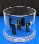 DELTA DEVICE Headshell Cartridge Box für Tonabnehmersammlung - transparent