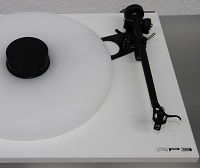 ACRYLIC PLATTER UPGRADE for Turntable Rega Planar 2,3,25 P3, P3/24, RP1, RP3 :: white S24