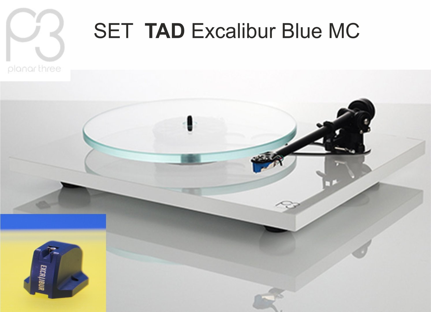 REGA Planar 3 | 2016 turntable - white | TAD Excalibur Blue MC
