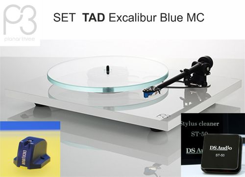 OFFER: REGA Planar 3 + Stylus Cleaner DS Audio| turntable white with TAD Excalibur Blue MC