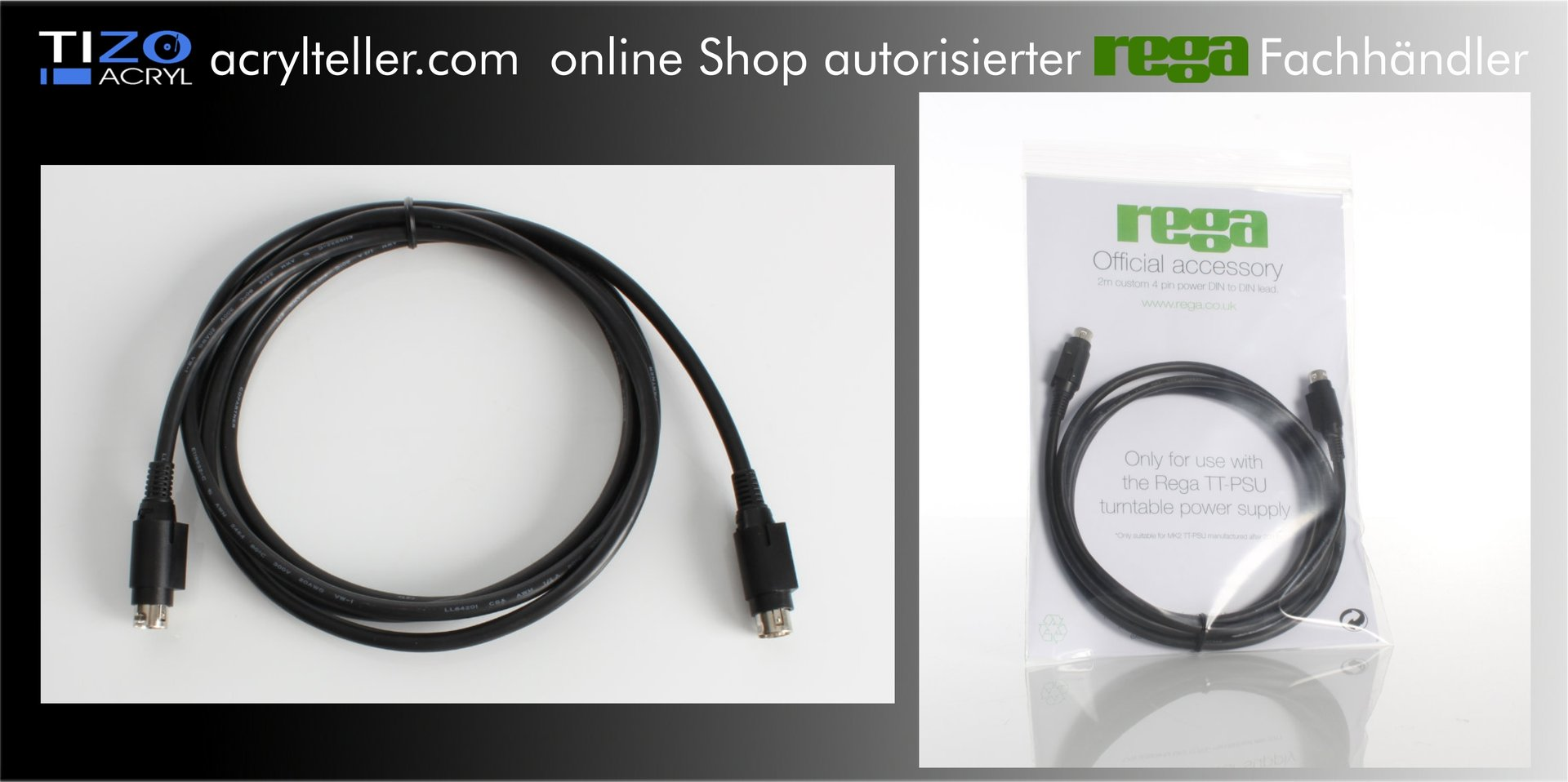 rega NEO /& TTPSU power supply 2M connecting Cable to turntable AUTHORIZED-DEALER