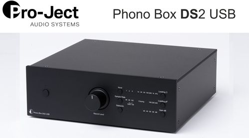 Pro-Ject Phono Box DS2 USB | black without wooden side panels
