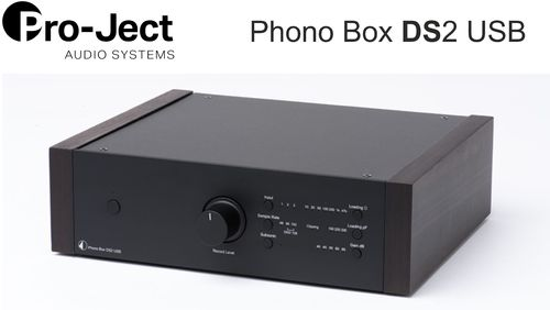 Pro-Ject Phono Box DS2 USB | black with wooden side panels eucalyptus