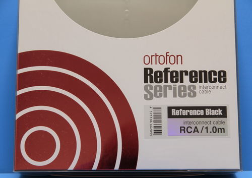 Ortofon Reference BLACK RCA Geräteverbindungskabel - 100cm
