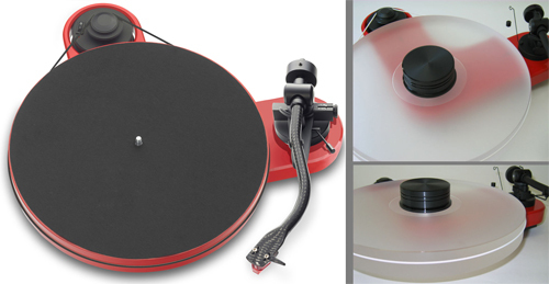 Turntable Pro-Ject RPM 1 Carbon + DELTA DEVICE Upgrade Acrylic Platter and Puck