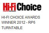 Rega RP6 Hi-Fi Choice Awards Winner 2012